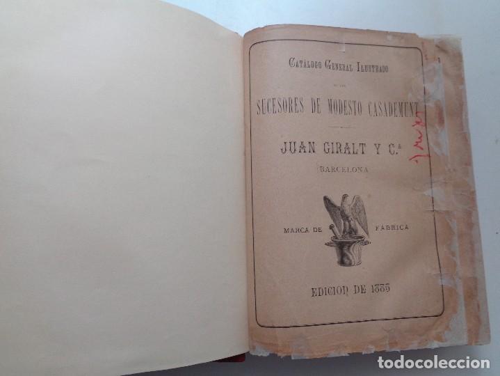 Libros antiguos: FARMACIA.CATALOGO GENERAL ILUSTRADO SUCESORES MODESTO CASADEMUNT.AÑO 1885.-346 - Foto 2 - 126636243