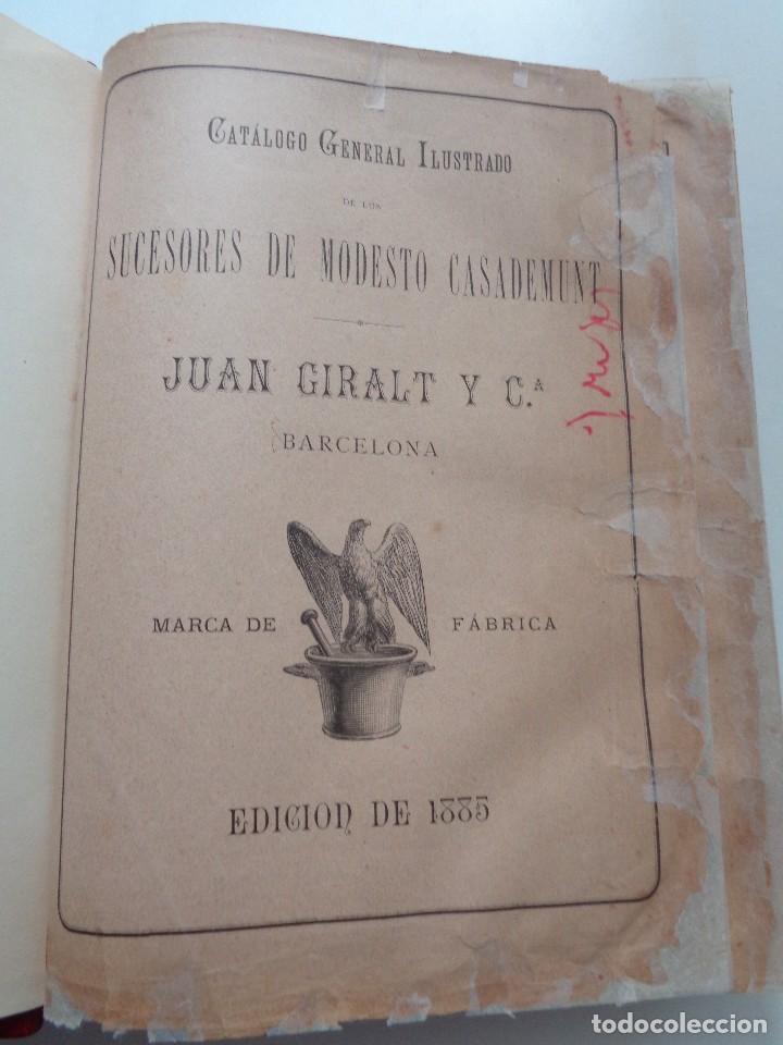 Libros antiguos: FARMACIA.CATALOGO GENERAL ILUSTRADO SUCESORES MODESTO CASADEMUNT.AÑO 1885.-346 - Foto 3 - 126636243