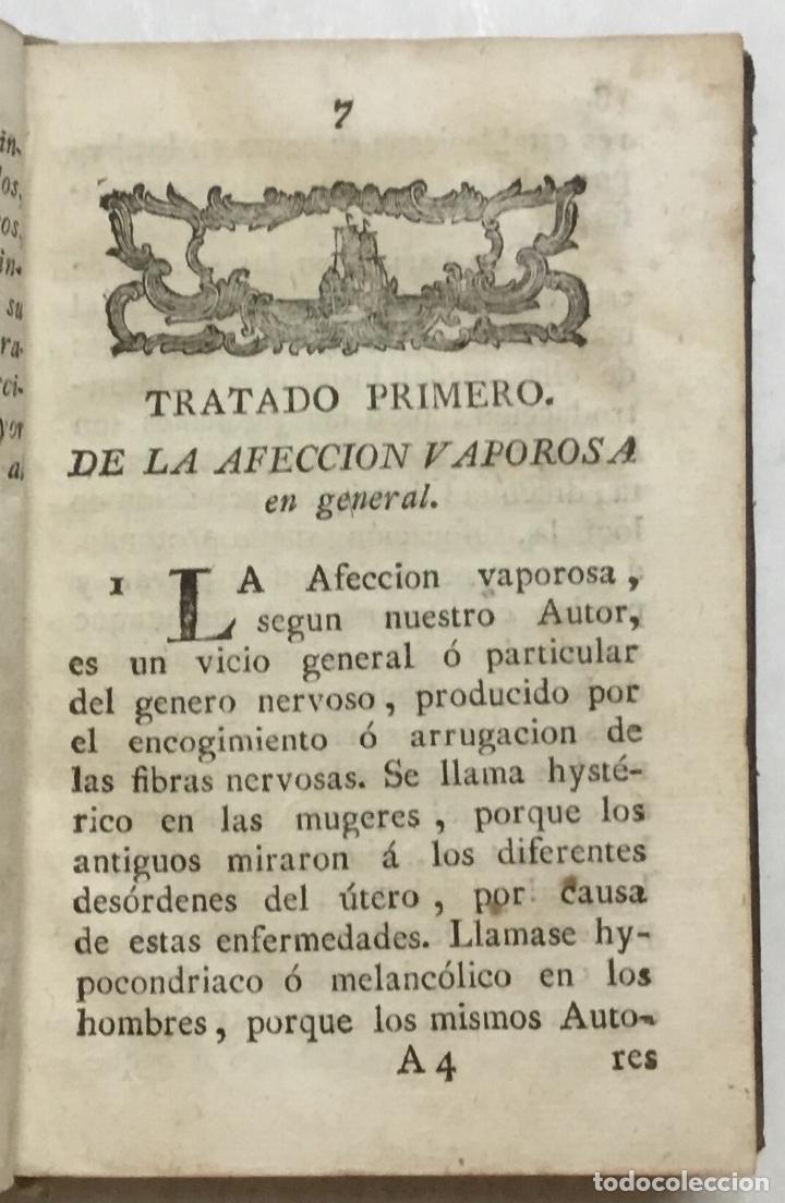 Libros antiguos: NUEVO MÉTODO PARA CURAR FLATOS, HYPOCONDRIA, VAPORES, Y ATAQUES HYSTÉRICOS DE LAS MUGERES DE TODOS E - Foto 3 - 123268822