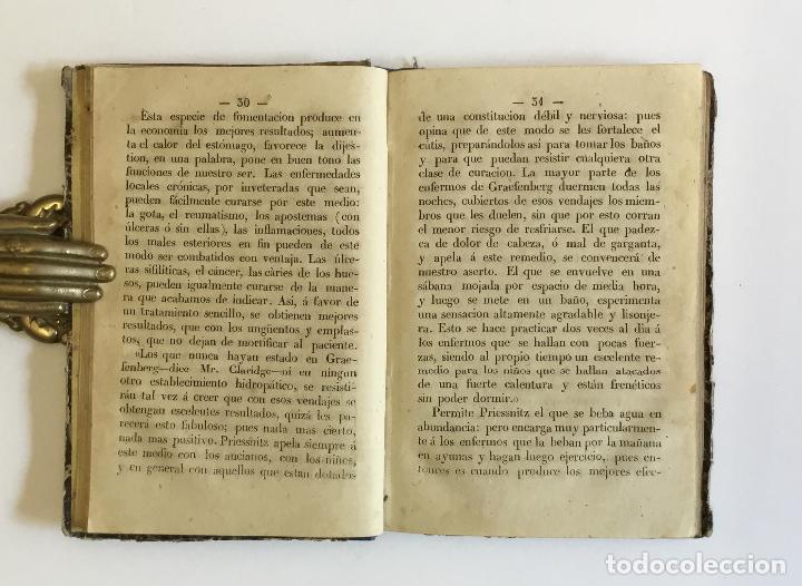 Libros antiguos: LA HIDROPATIA Ó SEA TRATAMIENTO DE LAS ENFERMEDADES POR MEDIO DEL AGUA FRÍA, EL SUDOR... 1868 - Foto 3 - 128256671
