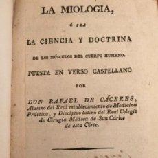 Libros antiguos: 4 LIBROS ANTIGUOS DE MEDICINA - LA MIOLOGIA - NO MÁS SANGUIJUELAS - TRATADO NUEVAS PREPARACIONES ORO. Lote 128424931