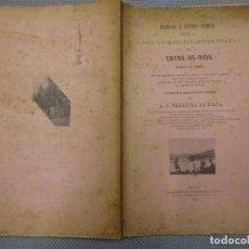 Libros antiguos: PORTUGAL TERMALISMO - MEMORIA ESTUDO CHIMICO AGUAS MINERO MEDICINAES ENTRE OS RIOS - PORTO 1896 +INF. Lote 128480987