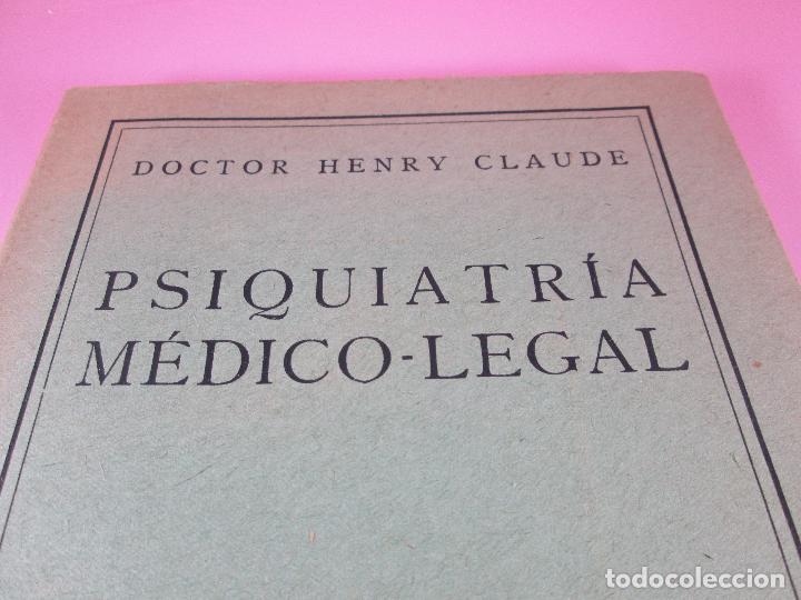 Libros antiguos: libro-psiquiatría médico legal-doctor henry claude-espasa calpe s.a.-1933-excelente estado - Foto 5 - 128503159