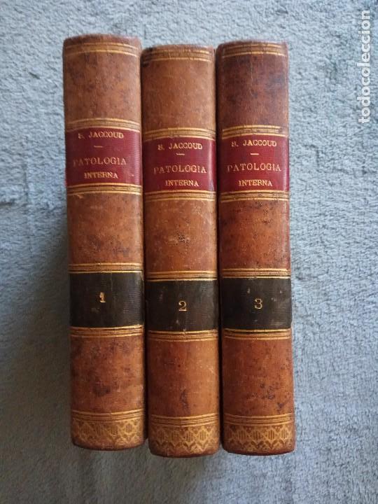 TRATADO DE PATOLOGÍA INTERNA POR J. JACCOUD 1881. 3ª EDICIÓN .3 TOMOS (Libros Antiguos, Raros y Curiosos - Ciencias, Manuales y Oficios - Medicina, Farmacia y Salud)