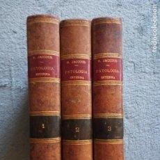 Libros antiguos: TRATADO DE PATOLOGÍA INTERNA POR J. JACCOUD 1881. 3ª EDICIÓN .3 TOMOS. Lote 128632491