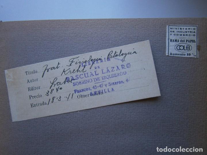 Libros antiguos: Tratado de Fisiologia Patologica Dr Lupoldo Krehl Labor 1923 - Foto 9 - 128898559
