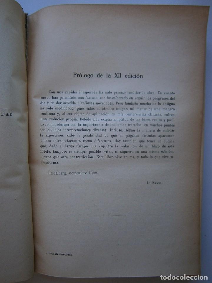 Libros antiguos: Tratado de Fisiologia Patologica Dr Lupoldo Krehl Labor 1923 - Foto 14 - 128898559