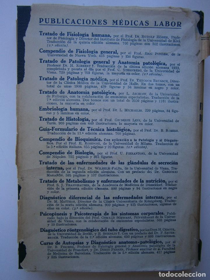 Libros antiguos: Tratado de Fisiologia Patologica Dr Lupoldo Krehl Labor 1923 - Foto 18 - 128898559