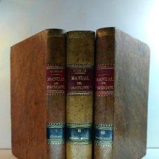 Libros antiguos: MANUAL DEL PRACTICANTE. VOLÚMENES I-II-III: OBRA COMPLETA. CUBELLS BLASCO, ARTURO. VALENCIA 1903,. Lote 129384155