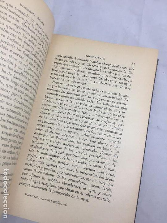Libros antiguos: Lecciones sobre las enfermedades por retardo de la nutrición 1891 Bouchard Fremy buen estado piel - Foto 5 - 129962395