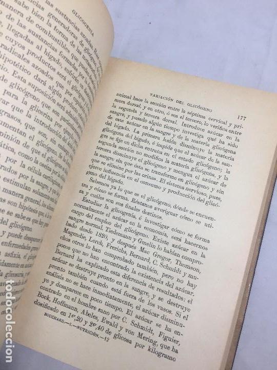 Libros antiguos: Lecciones sobre las enfermedades por retardo de la nutrición 1891 Bouchard Fremy buen estado piel - Foto 7 - 129962395