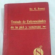 Libros antiguos: TRATADO DE ENFERMEDADES DE LA PIEL Y VENÉREAS 1920 EDMUNDO LESSER 163 GRABADOS 31 LÁMINAS COLOR . Lote 130088187