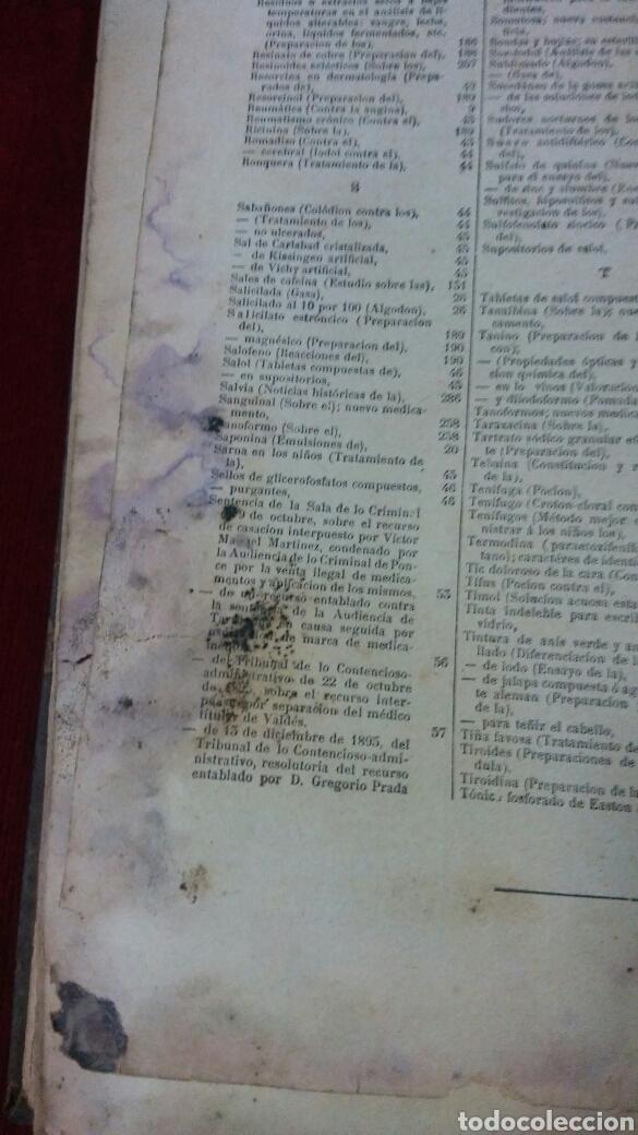 Libros antiguos: La oficina de farmacia Española según Dorvault. Suplementos del 13 al 17. - Foto 8 - 130266732