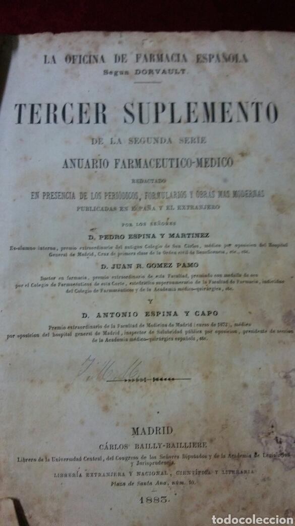 LA OFICINA DE LA FARMACIA SEGÚN DORVAULT (Libros Antiguos, Raros y Curiosos - Ciencias, Manuales y Oficios - Medicina, Farmacia y Salud)