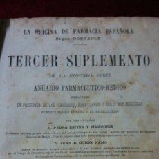 Libros antiguos: LA OFICINA DE LA FARMACIA SEGÚN DORVAULT. Lote 130417039