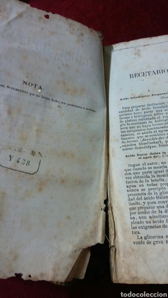 Libros antiguos: La oficina de la farmacia según Dorvault - Foto 5 - 130417039