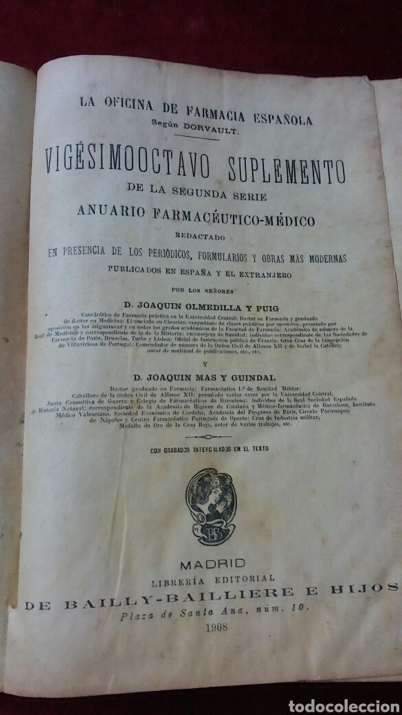 LA OFICINA DE FARMACIA ESPAÑOLA SEGÚN DORVAULT (Libros Antiguos, Raros y Curiosos - Ciencias, Manuales y Oficios - Medicina, Farmacia y Salud)