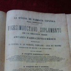 Libros antiguos: LA OFICINA DE FARMACIA ESPAÑOLA SEGÚN DORVAULT. Lote 130417543