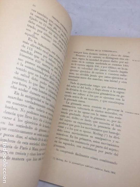 Libros antiguos: La higiene terapeutica Gimnasia Masaje Hidroterapia Aeroterapia Dujardin Beaumetz gráficos 1891 - Foto 4 - 178158034