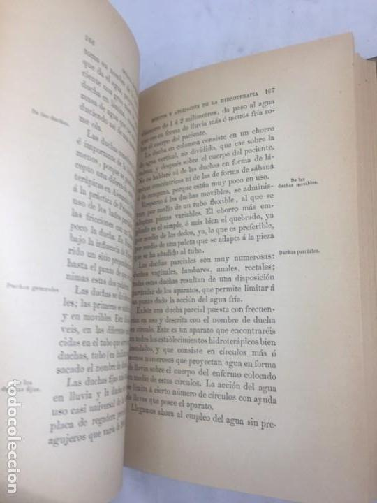 Libros antiguos: La higiene terapeutica Gimnasia Masaje Hidroterapia Aeroterapia Dujardin Beaumetz gráficos 1891 - Foto 9 - 178158034