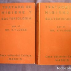 Libros antiguos: KARL FLUGGE: - TRATADO DE HIGIENE Y BACTERIOLOGÍA SANITARIA - (2 TOMOS) (MADRID, 1916) (MEDICINA). Lote 130518814