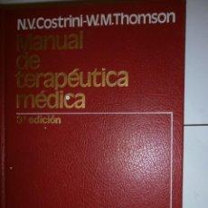Libros antiguos: MANUAL DE TERAPEUTICA MEDICA DE SALVAT. Lote 130917704