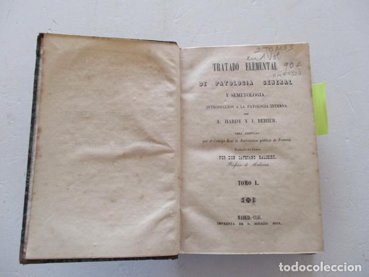 Libros antiguos: A. HARDY, J. BEHIER Tratado Elemental de Patología General y Semeyología...RM87527 - Foto 2 - 130998460