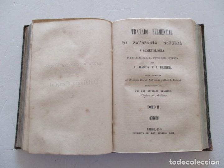 Libros antiguos: A. HARDY, J. BEHIER Tratado Elemental de Patología General y Semeyología...RM87527 - Foto 6 - 130998460