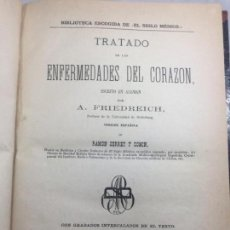 Libros antiguos: TRATADO DE LAS ENFERMEDADES DEL CORAZÓN 1877 A. FRIEDREICH TRAD. SERRET Y COMÍN GRABADOS BAILLY. Lote 131685214