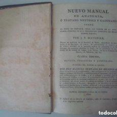 Libros antiguos: LIBRERIA GHOTICA. J.P.MAYGRIER. NUEVO MANUAL DE ANATOMIA. PARA PREPARAR LAS PARTES DEL CUERPO.1820.. Lote 132775598