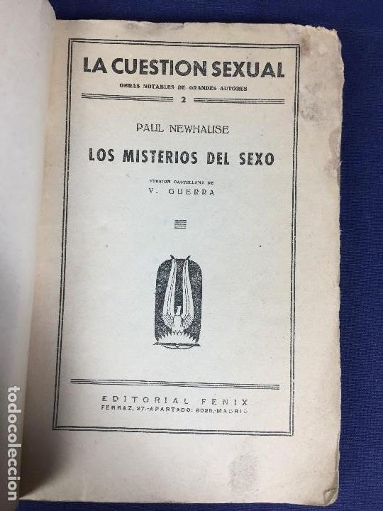 Libros antiguos: LA CUESTIÓN SEXUAL los misterios del sexo Paul Newhause tomo 2 ed Fenix - Foto 4 - 133137770
