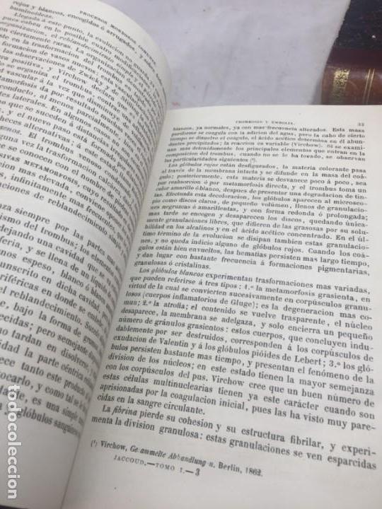 Libros antiguos: Tratado de Patología Interna S. Jaccoud traducción Joaquín Gassó 2 tomos 1875 grabados y láminas. - Foto 7 - 133376330