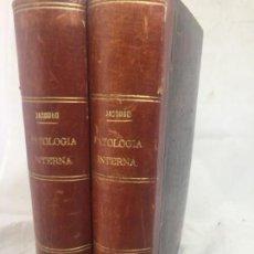 Libros antiguos: TRATADO DE PATOLOGÍA INTERNA S. JACCOUD TRADUCCIÓN JOAQUÍN GASSÓ 2 TOMOS 1875 GRABADOS Y LÁMINAS.. Lote 133376330