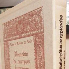 Libros antiguos: REMEDIO DE CUERPOS HUMANOS Y SILVA DE EXPERIENCIA.FACSIMIL.. Lote 133485218