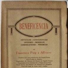 Libros antiguos: BENEFICENCIA. ARTÍCULOS, CONFERENCIAS, INFORMES, MEMORIAS, COMUNICACIONES, PONENCIAS.. Lote 123233560