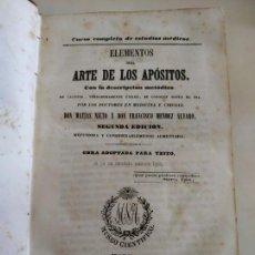 Libros antiguos: LIBRO ELEMENTOS DEL ARTE DE LOS APÓSITOS 1847 MATÍAS NIETO Y MÉNDEZ ÁLVARO. Lote 133628154