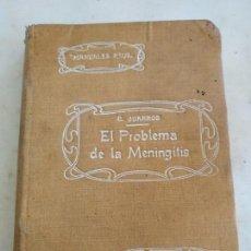 Libros antiguos: EL PROBLEMA DE LA MENINGITIS 1915 CÉSAR JUARROS, MANUALES REUS VOLUMEN 7. Lote 133700390