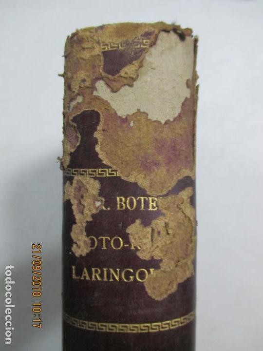 Libros antiguos: TRATADO DE OTO-RINO-LARINGOLOGIA PARA MÉDICOS Y ESTUDIANTES POR EL DR. D. RICARDO BOTEY. 2ª EDI. BCN - Foto 2 - 133888590