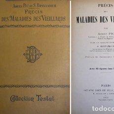 Libros antiguos: PIC, ADRIEN ET BONNAMOUR, STEPHANE. PRÉCIS DES MALADIES DES VIEILLARDS. 1912.. Lote 134381278