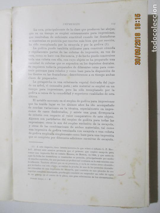 Libros antiguos: TRATADO DE PRÓTESIS DENTAL I. CHARLES R. TURNER. BARCELONA 1933 - Foto 2 - 134926142
