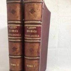 Libros antiguos: QUÍMICA BIOLÓGICA HIGIENE Y PATOLOGÍA HUMANAS DR. ARDIETA 2 TOMOS OBRA COMPLETA BUEN ESTADO . Lote 135769506