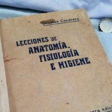 Libros antiguos: LIBRO LECCIONES DE ANATOMÍA DEL AÑO 1930. Lote 136707154