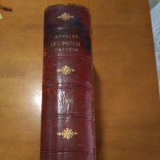 Libros antiguos: ANNALES DE L'INSTITUT PASTEUR (JOURNAL DE MICROBIOLOGIE). Lote 137211342