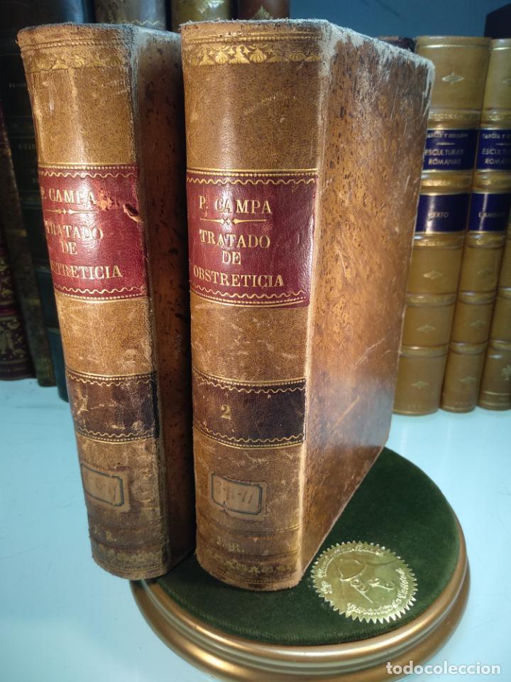 TRATADO DE OBSTETRICIA - DOCTOR F. DE P. CAMPÁ - 2 TOMOS - L.DE PASCUAL AGUILAR - VALENCIA - 1885 - (Libros Antiguos, Raros y Curiosos - Ciencias, Manuales y Oficios - Medicina, Farmacia y Salud)
