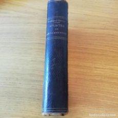 Libros antiguos: FARMACIA, FARMACOLOGÍA. APUNTES DE MEDICAMENTOS. DR. RODRÍGUEZ MÉNDEZ. 1906. Lote 138895234