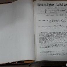 Libros antiguos: REVISTA HIGIENE Y SANIDAD PECUARIAS GORDÓN ORDAS TOMO XX AÑO 1930 COMPLETO. Lote 139038361
