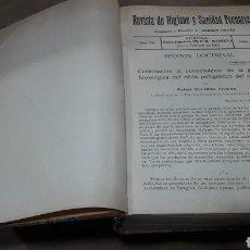 Libros antiguos: REVISTA HIGIENE Y SANIDAD PECUARIAS GORDÓN ORDAS TOMO XXI AÑO 1931 COMPLETO. Lote 139041496