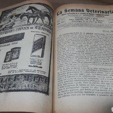 Libros antiguos: BOLETÍN LA SEMANA VETERINARIA GORDÓN ORDAS AÑO 1931 COMPLETO. Lote 139044352