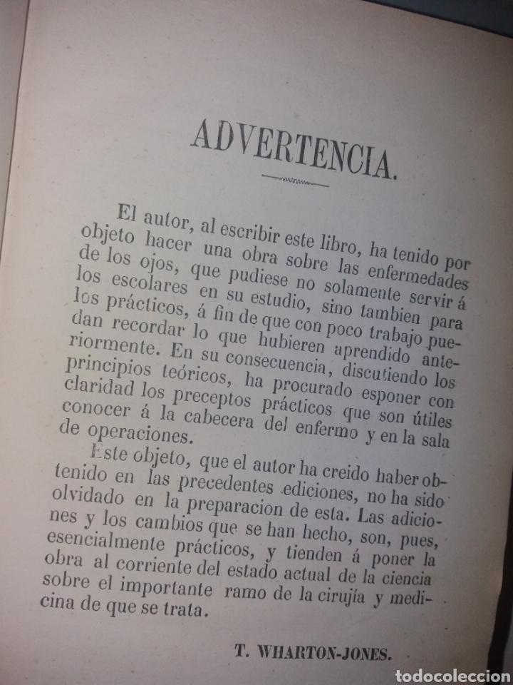 Libros antiguos: TRATADO PRÁCTICO DE LAS ENFERMEDADES DE LOS OJOS. 1864. POR T. WHARTON-JONES - Foto 3 - 139195212