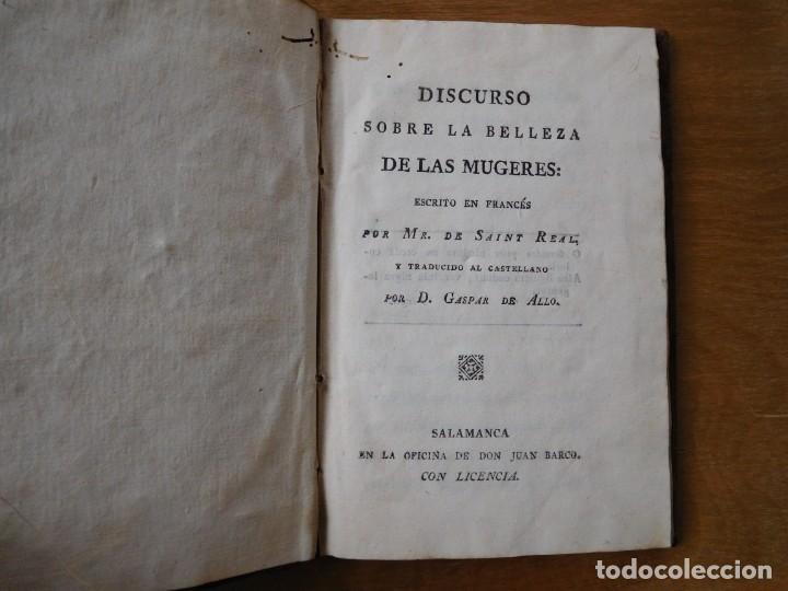 Libros antiguos: Libro discurso sobre la belleza de las mugeres año 1798 - Foto 2 - 140284918
